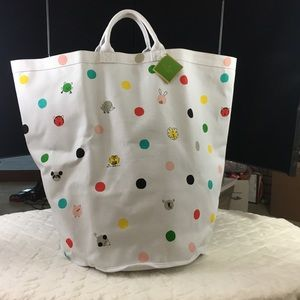 NWT Kate Spade Hey Baby Canvas Storage Bin